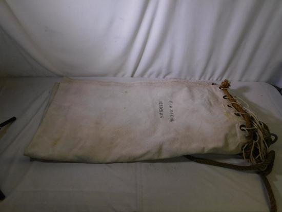 US Navy canvas cot