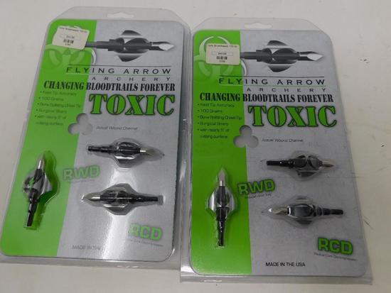 Flying Arrow Toxic 100 gr broadheads