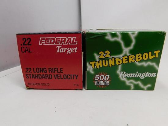 22 LR rimfire ammunition