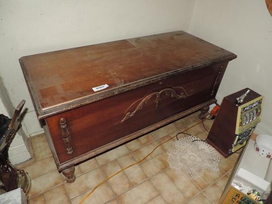 Antique Cedar Trunk.