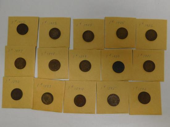 US Indian head penny assortment