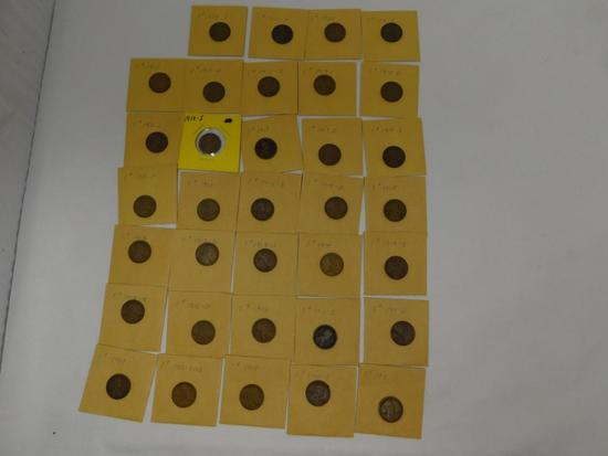 US Lincoln Wheat penny assortment