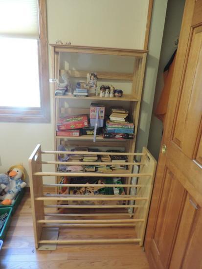 2 Shelves and kids Books