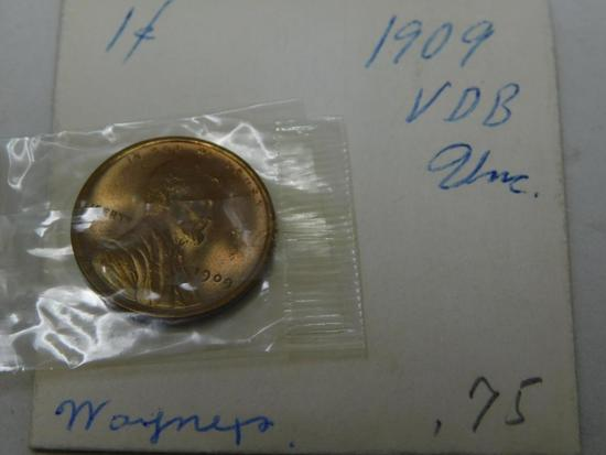 US 1909 VDB Lincoln Wheat penny cent