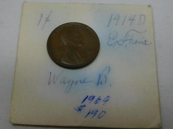 US 1914D Lincoln wheat penny cent