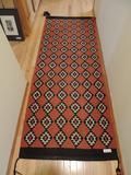 Kilim Diamond Pattern Wool Rug- Hallway Runner