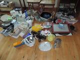 Huge assortment of kitchen goodies.