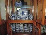 20+ pieces of Gzhel hand made Russian china.