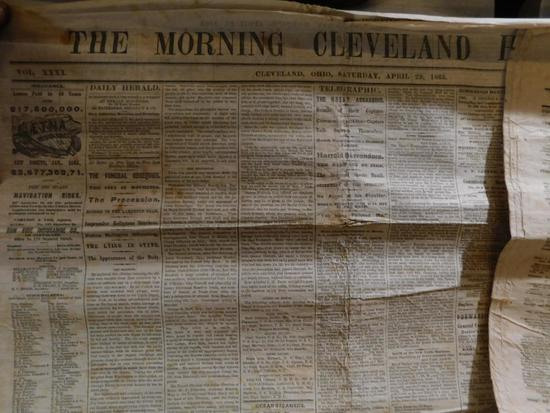Original 1864 and 1865 Civil war newspapers