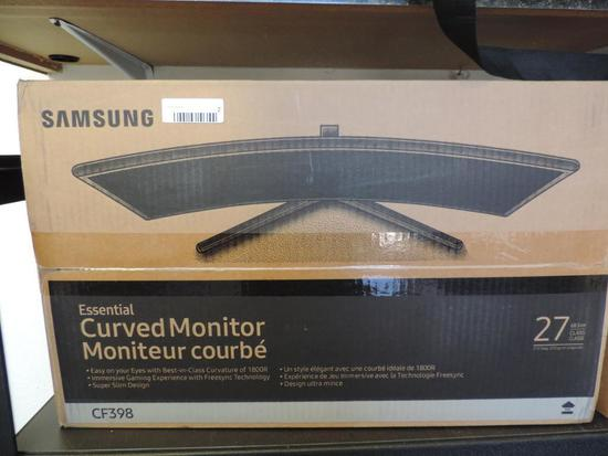 "New Samsung CF398 Curved 27"" monitor."