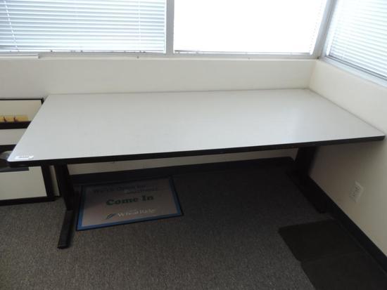 6' furmica top folding office table.