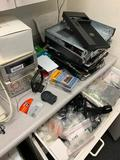 Contents of Corner Shelf and Drawer, Stero, Laptop Parts, Misc, More
