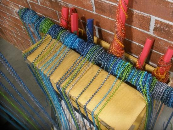Funky Retro Beaded Curtains and Jewel and Disc Chains