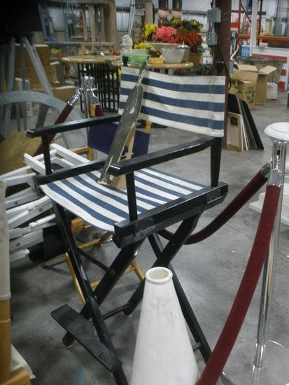 Deck Chairs Velvet Rope & Stanchion + Hollywood Director lot