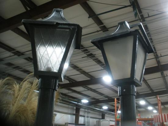 Single Post Street Lamp 8 foot pair