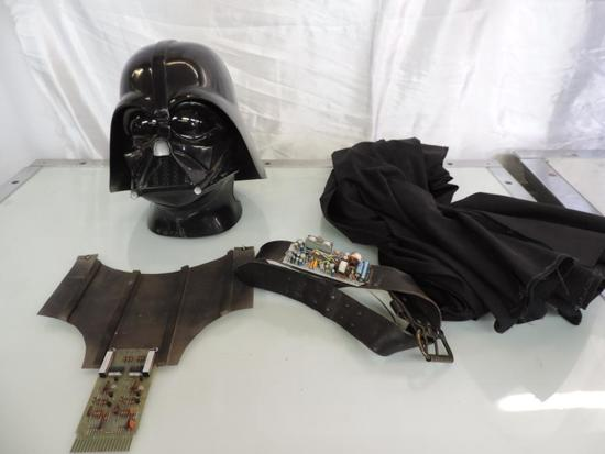 Don Post Studio Darth Vader mask with costume.