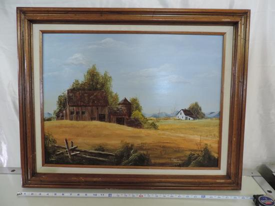 Virginia Landon Estes Park CO oil on hard board.