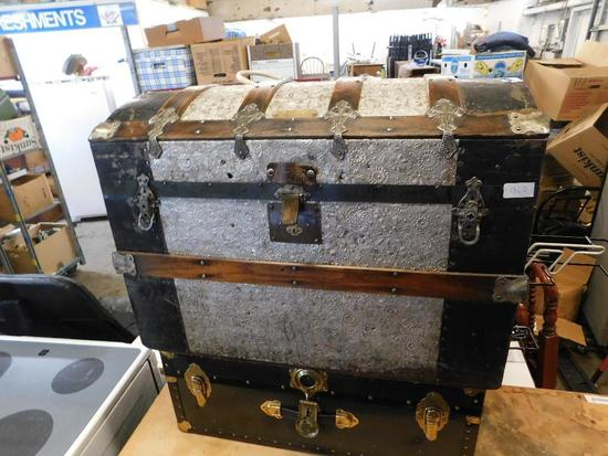 Two Vintage trunks