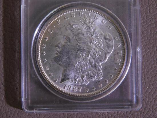 1887 Morgan dollar coin
