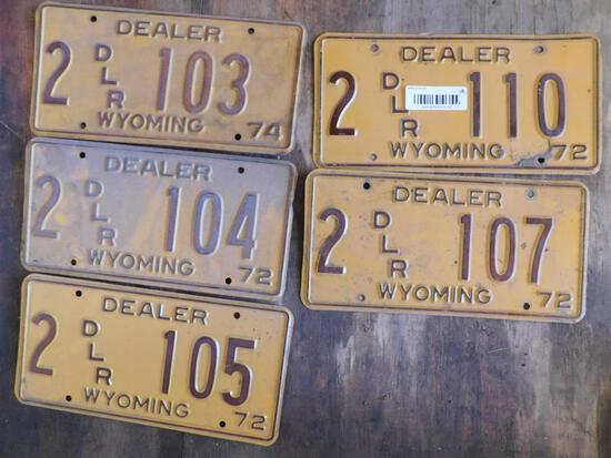 Collectible license plates
