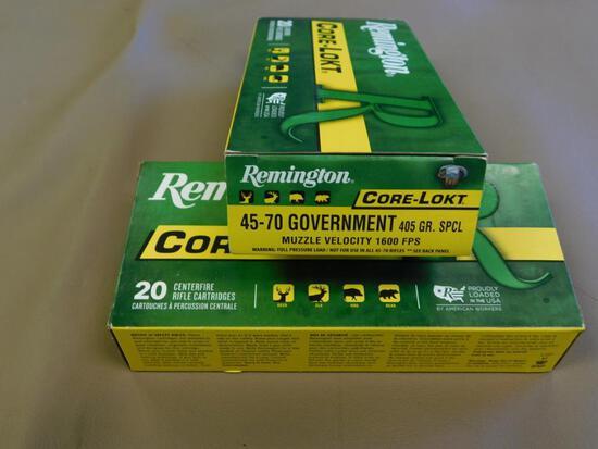 Remington Core-Lokt 45-70 Gov. 405 Gr. SPCL Ammo
