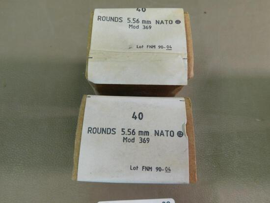 5.56 cal M369 Penetrator ammunition