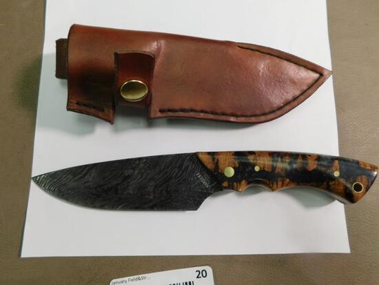 Gary Harders SD knives custom Damascus knife