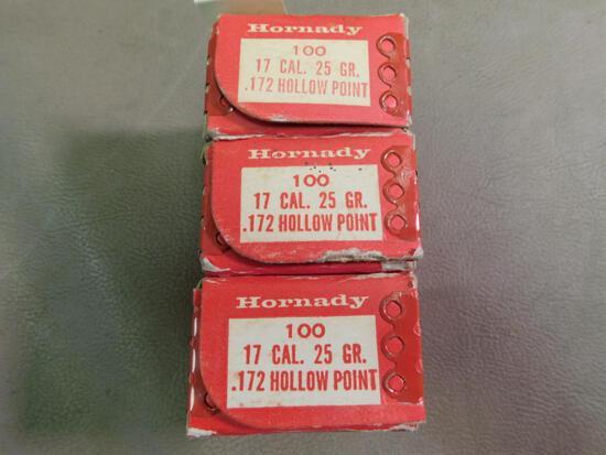 Hornady 17 cal bullets for reloading