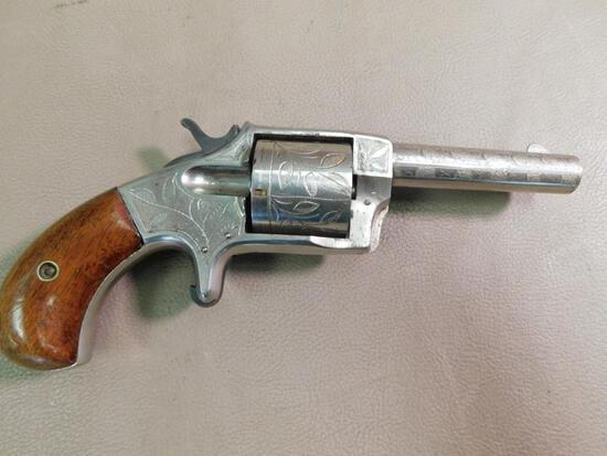 Antique engraved Smoker No 3 Spur trigger revolver