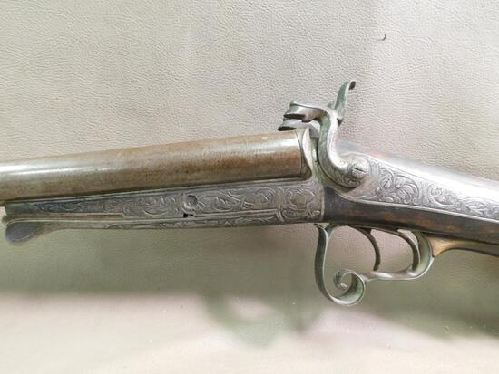 Excellent Guild made Under lever SXS pinfire shotgun