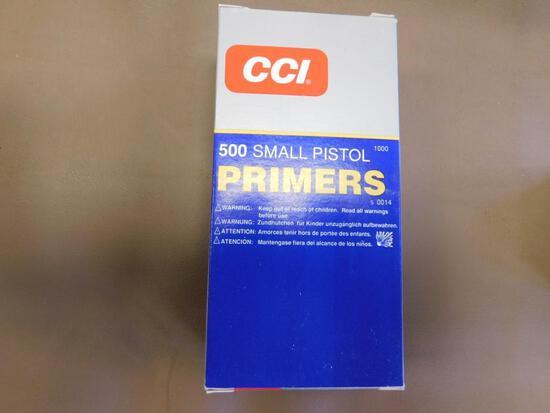 CCI #500 small pistol primers NO SHIPPING