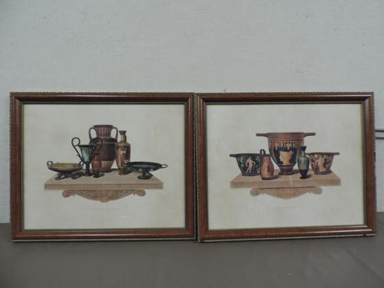 Framed Rodwell & Martin prints engraved by Henry Moses.