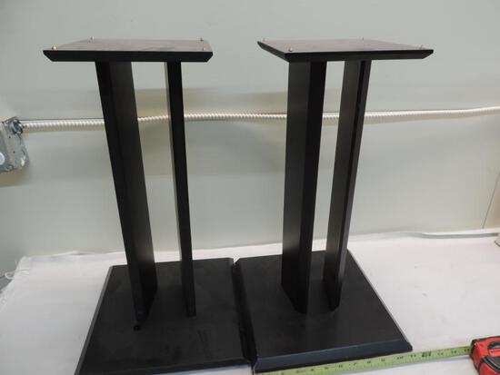 "Pair of 12x12x21"" speaker stands."