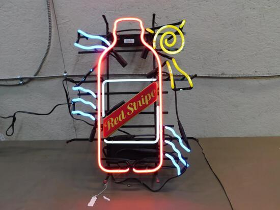 Red Stripe Neon Sign