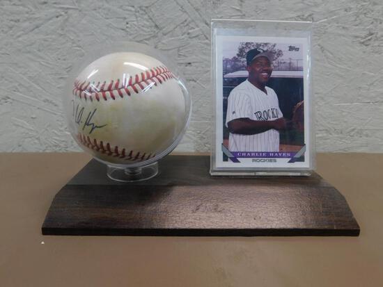 Charlie Hayes Signed Baseball