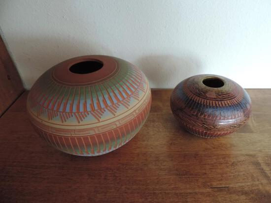 AB Navajo and Susie Churley Pottery