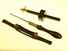 3 tools: ebony & brass slitting gauge, pad saw, & spokeshave.