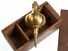 Leistner 48-oz. reversible brass plumb bob, near-mint in wood box.