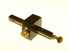 Ebony mortise gauge with brass face on square head.