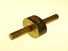 Ebony mortise gauge with brass stem & oval head.