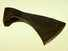 18th C curved-blade side axe.