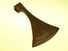 Massive 18th-Century felling axe.