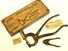1880s shoe-button plier kit, mint in box.