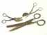 Lot of 3 scissors, one with 1864 patent.