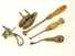 Lot of 5 leather working tools.