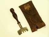 Keen Kutter diamond glass cutter, in leather case.
