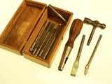 1913 Patent tool holder with 9 tools.