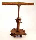 1854 Patent wagon hub boring machine.