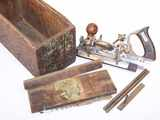 Stanley No. 45 combination plane, in wood box.