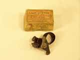 Empire leather lace cutter, in original box.